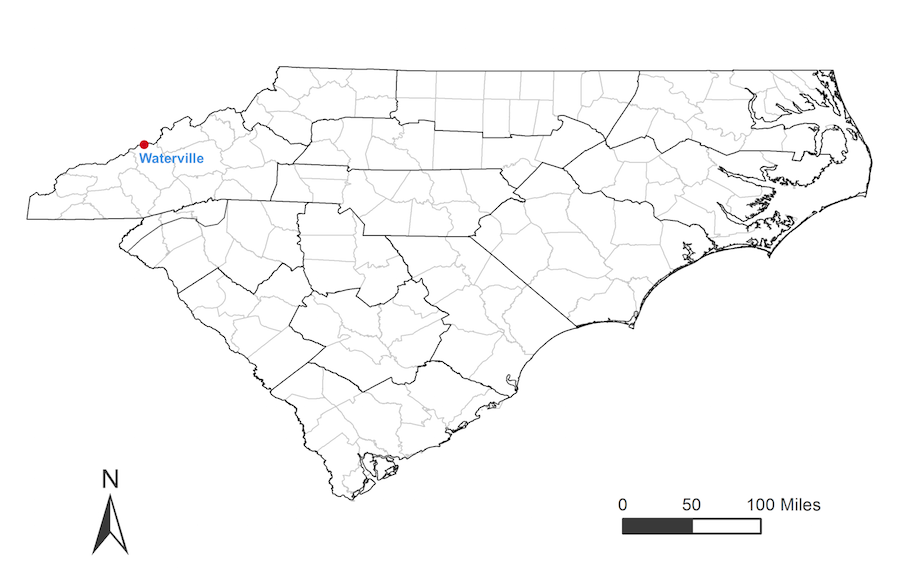 Haywood County Nc Map.Cppp Waterville Nc Weather Station